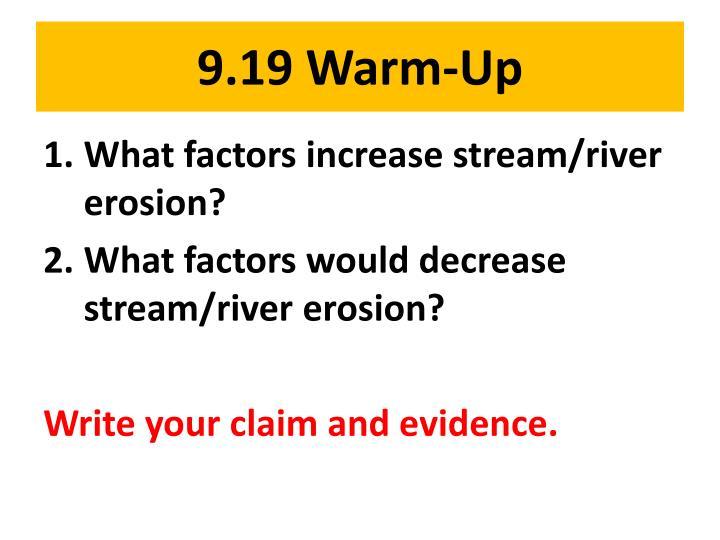 9.19 Warm-Up