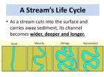 a stream s life cycle