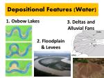 depositional features water
