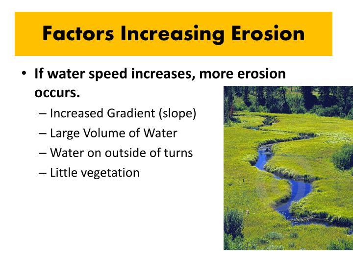 Factors Increasing Erosion