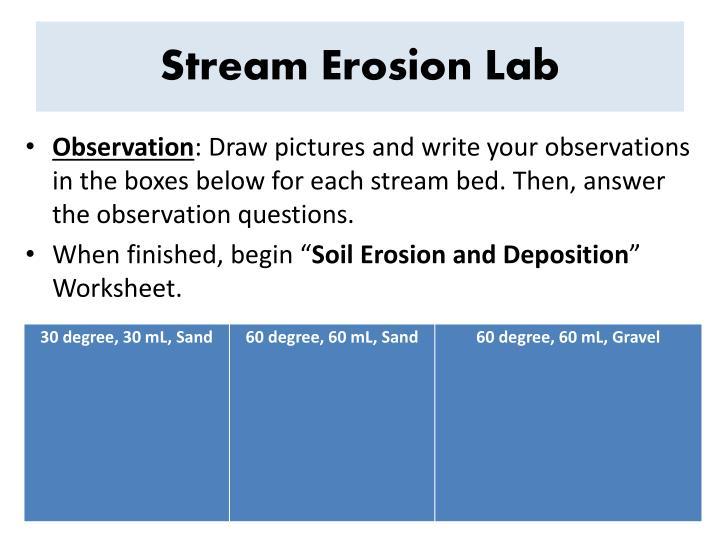 Stream Erosion Lab