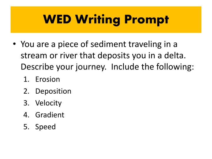WED Writing Prompt