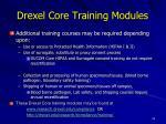 drexel core training modules