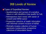 irb levels of review4
