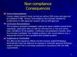 non compliance consequences