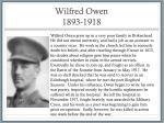 wilfred owen 1893 1918