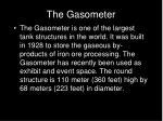 the gasometer