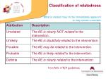 classification of relatedness