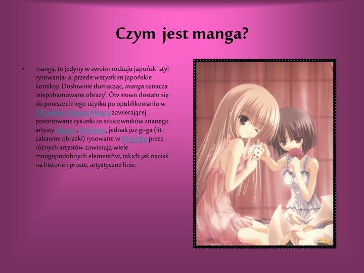 Czym jest manga