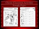 classic classroom activities sample pages