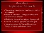 more about registration passwords