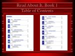 read about it book 1 table of contents