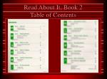 read about it book 2 table of contents