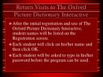 return visits to the oxford picture dictionary interactive