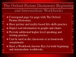 the oxford picture dictionary beginning and intermediate workbooks