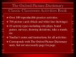 the oxford picture dictionary classic classroom activities book