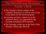 the oxford picture dictionary teacher s book