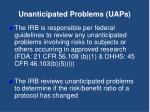 unanticipated problems uaps