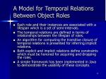 a model for temporal relations between object roles1