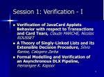 session 1 verification i