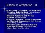 session 1 verification ii