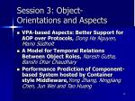 session 3 object orientations and aspects
