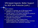 vpa based aspects better support for aop over protocols cont