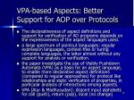 vpa based aspects better support for aop over protocols