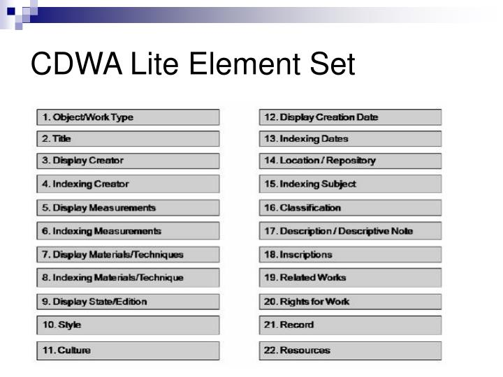 CDWA Lite Element Set