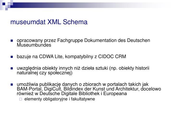 museumdat XML Schema
