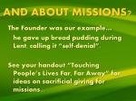 and about missions