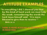 attitude examples