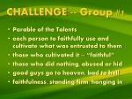 challenge group 1