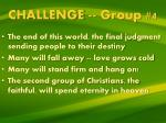 challenge group 4