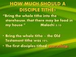 how much should a disciple tithe1