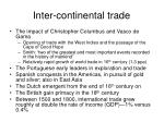 inter continental trade