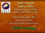 sauk suiattle indian tribe chairperson jan mabee police chief owen couch