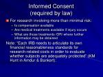 informed consent required by law2