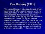 paul ramsey 1971
