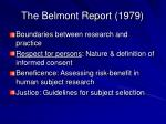 the belmont report 1979