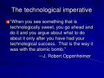 the technological imperative