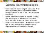general learning strategies