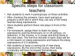 specific steps for classroom teachers1