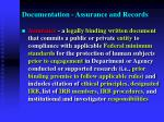documentation assurance and records1
