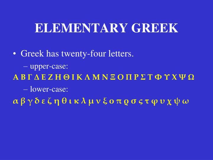 Elementary greek2
