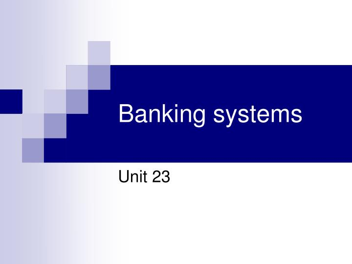 banking systems n.