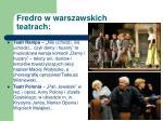 fredro w warszawskich teatrach1