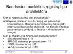 bendrosios paskirties registr tipo architekt ra1