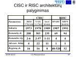 cisc ir risc architekt r palyginimas