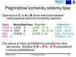 pagrindiniai komand sistem tipai3